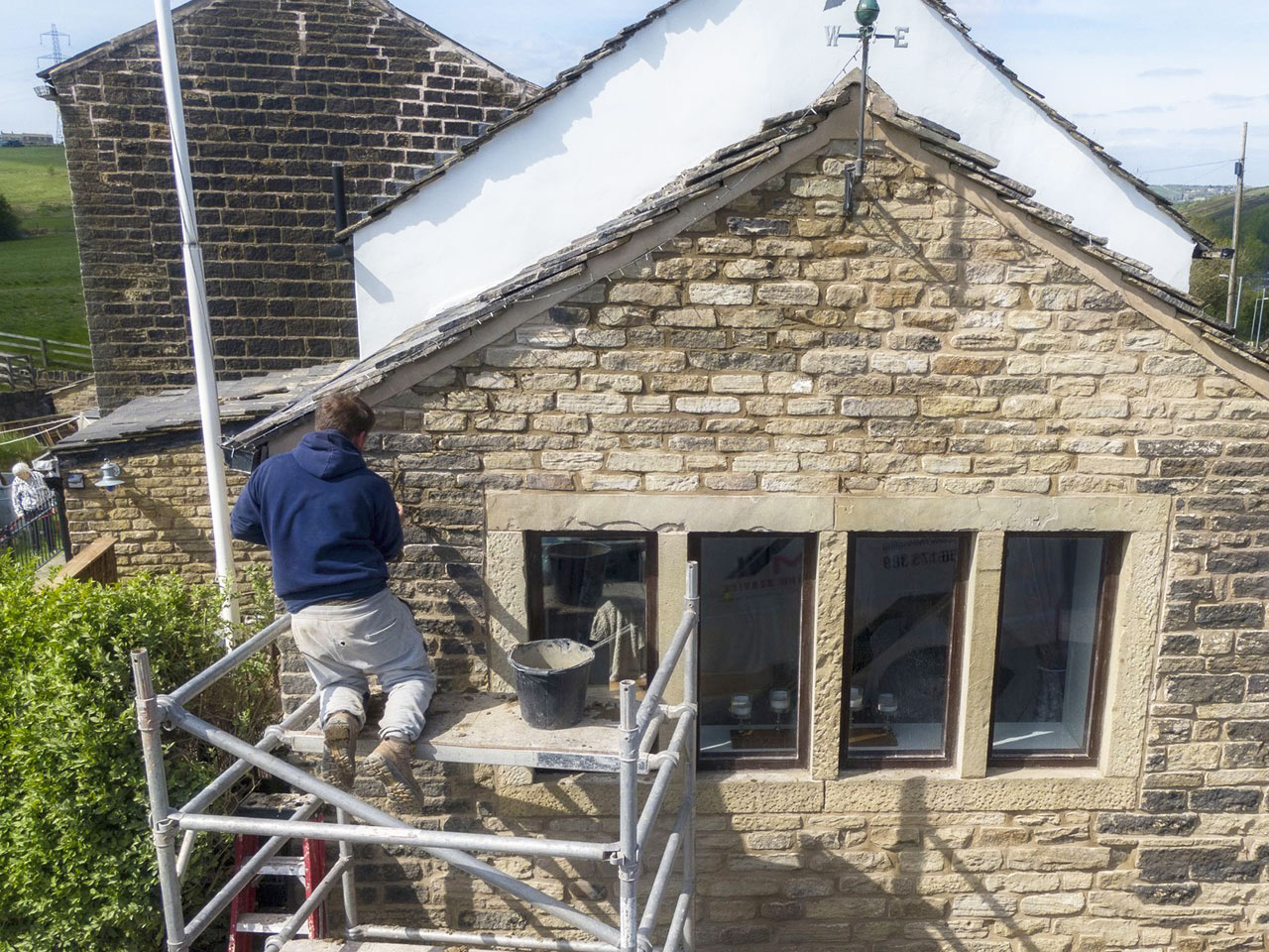 Stone Gable Pointing